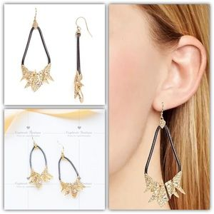 Alexis Bittar Crystal Encrusted Origami Earrings